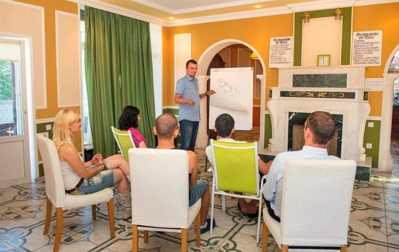 Групповые мероприятия с психологом в реабилитационном центре г. Санкт - Петербург